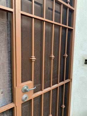 Double Wrought Iron Security Door for Sale in La Jolla, CA