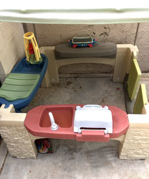 Step 2 Kids Playtime Kitchen with Canopy & Bag of Toys for Sale in Phoenix, AZ