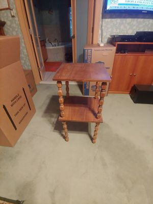 2 shelve wooden stand for Sale in Bowie, MD