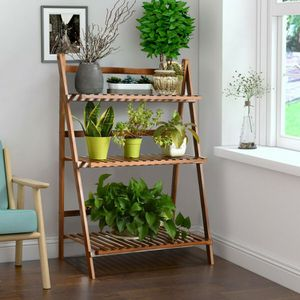 Folding Bamboo Shelf for Flowers/Plants for Sale in Los Angeles, CA