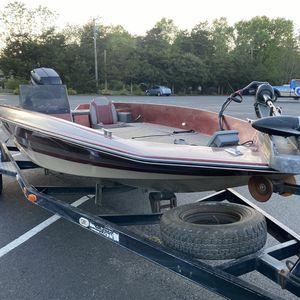 Winner Bass Boat W/ Mercury 150HP Motor, Minn Kota 75lbs Thrust Trolling Motor, And Trailer for Sale in Franklin, NJ