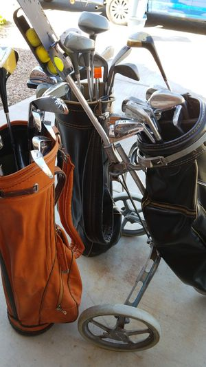 3 sets of Golf Clubs with carrier for Sale in Las Vegas, NV