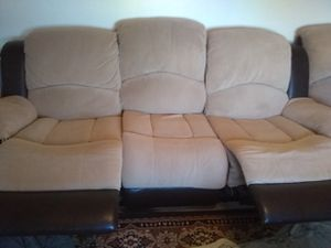 Clean Microsuade Reclining Couch for Sale in El Cajon, CA