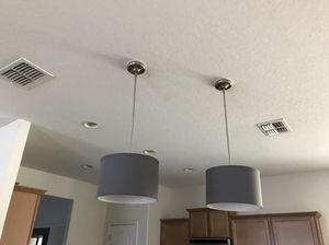 2 Silver kitchen island lights $15 both for Sale in Brandon, FL