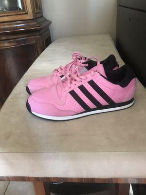 Adidas galaxy 3 stripes pink used twice for Sale in Orlando, FL