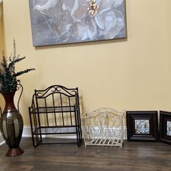 Decorative Magazine Rack, Towel Rack And Pictures for Sale in Cary,  NC