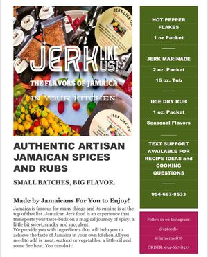 Hot Pepper Flakes and Jerk Marinade. Authentic Jamaican flavored seasonings and spices for Sale in Pompano Beach, FL