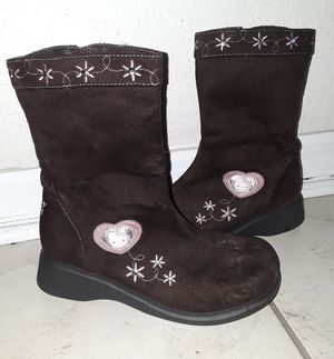 Girls hello kitty brown size 2 boots for Sale in Spring Hill, FL