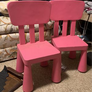 2 Pink Children Chairs for Sale in Culver City, CA