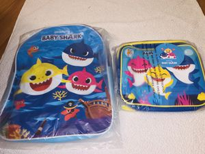 Baby shark book bag with lunch bag for Sale in Cleveland, OH