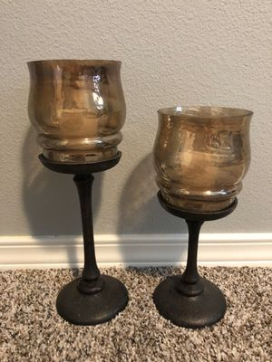 Pair of Pillar Candle Holders for Sale in Bonney Lake, WA
