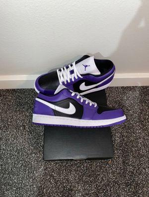 Jordan 1 Low court purple size 10 for Sale in Oregon City, OR