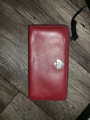 Red leather kate spade wallet for Sale in Las Vegas, NV