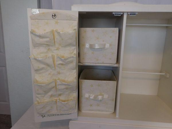 "American Girl 18""Doll Storage Cabinet wardrobe armoire Retired rare"