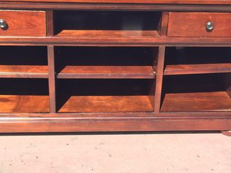 Long TV Stand With Two Drawers In Good Condition for Sale in Fresno,  CA