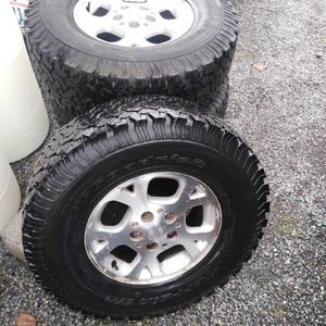 BF Goodrich Tires Mounted Jeep Wheels Extra 4 Tires for Sale in Graham, WA
