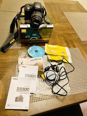 Nikon D D3300 24.2MP Digital SLR Camera - Black (Kit w/ AF-P DX VR II 18-55mm for Sale in Federal Way, WA