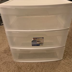 Plastic Storage Drawers (Three) for Sale in Woodlawn, MD