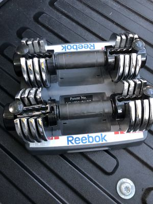 Reebok dumbbell weights for Sale in Fort Lauderdale, FL