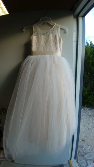 Blush Flower Girl Dress-4,4. 10 for Sale in Lago Vista, TX