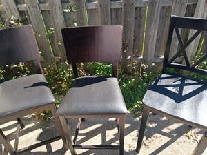 Three wooden chairs for Sale in Valley View, OH