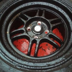 15inch Rims And Tires Good Shape Only Got 3. for Sale in Riverside, CA