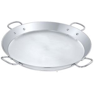 "New 20"" Stainless Steel Paella Pan with Heavy Duty Triply Bottom / Comal Para Paella De Acero Grueso De 20 Pulgadas for Sale in Chino, CA"