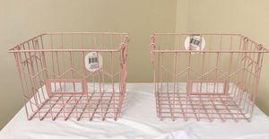 Pink Wire Storage Baskets for Sale in Haymarket, VA