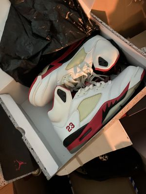 Fire red Jordan Retro V's for Sale in Washington, DC
