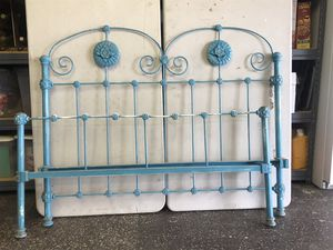old iron bed frame with rails for Sale in Westminster, CA