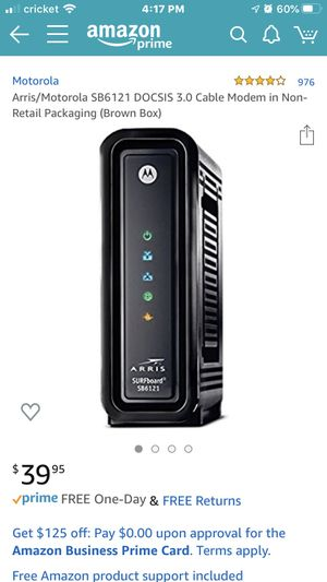 Motorola 3.0 Cable Modem for Sale in Sammamish, WA