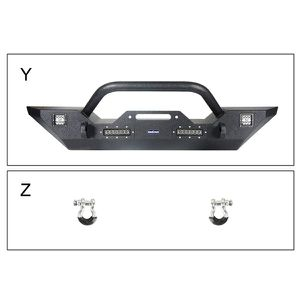 Steel offroad Front Bumper for 07-18 Jeep Wrangler JK & Unlimited w/Winch Plate & 4X LED Lights for Sale in Fullerton, CA