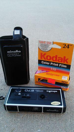 Minolta Pocket AutoPak 270 w/Original Case & Expired Film!! for Sale in Chino, CA