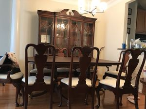 Hickory Chair Company dining room and China cabinet set for Sale in Fairfax, VA