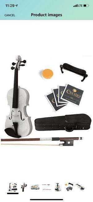 Mendini 4/4 white violin for Sale in Eldersburg, MD