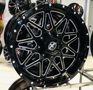 """NEW! 20"""" XF Offroad 211 Gloss Black Silver Rims Wheels 6x135 Ford F-150 6x5.5 Chevy Nissan Truck 20x9 XD Moto Fuel for Sale in Tampa, FL"""