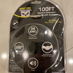 Night Owl 100ft Camera Extension Cable With Audio for Sale in Fort Lauderdale,  FL