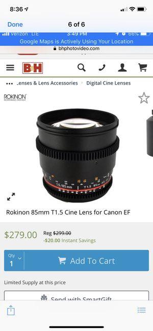 Camera lens brand new for Sale in Alexandria, VA