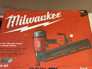 Brand new Milwaukee framing nail gun only asking $150 for Sale in La Habra, CA
