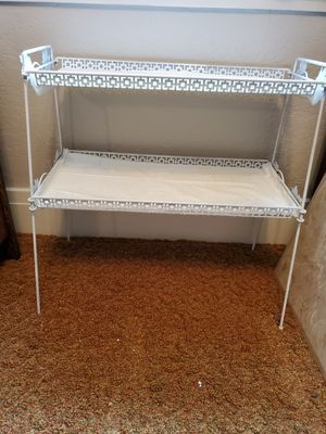 White metal plant stand for Sale in Monaca, PA