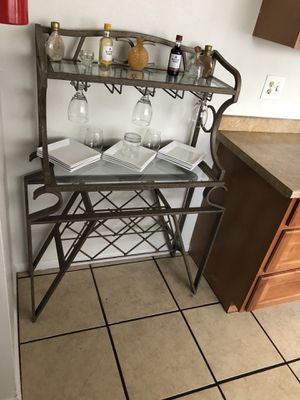 Kitchen table and wine glass hutch for Sale in Denver, CO
