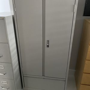 Light Gray Office Storage Cabinet With Filing Drawer for Sale in Fort Lauderdale, FL