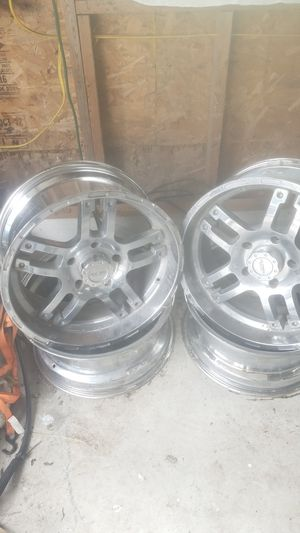 4 Liquid metal Toyota tundra rims 5x150 pattern for Sale in Damiansville, IL