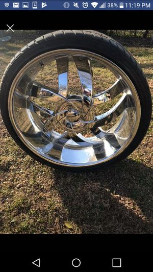 24 in. Velocity Rims w Matching Tires for Sale in Fort Smith, AR