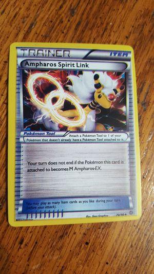 Pokemon Trainer Ampharos Spirit Link card for Sale in Battle Ground, WA
