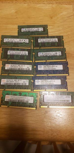 Laptop Memory ram lot of 11 for Sale in Fort Lauderdale, FL