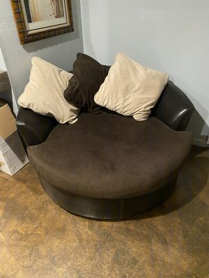 Round couch for Sale in Bonsall, CA