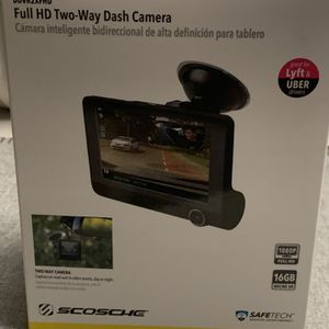 SCOSCHE DDVR2XFHD HD DVR Dual Front & Rear Facing Lens Suction Cup Dash Camera BRAND NEW SEALED for Sale in Middlefield, OH