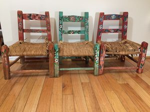 Vintage Doll Chairs Wicker Seats for Sale in Crofton, MD