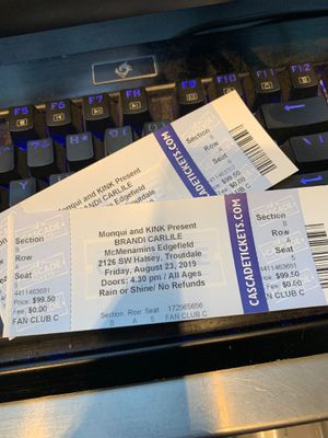 Brandi Carlile front row tickets for Sale in Portland, OR